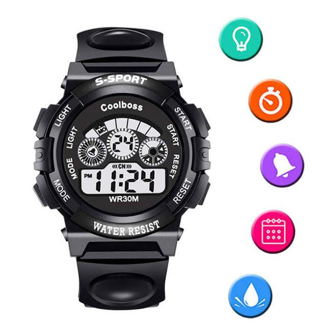 Waterproof Children's Watches Sport LED Display Child Watch Alarm Clock Digital