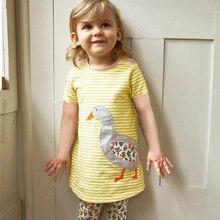 Summer Short Sleeve Round Neck Mini Dress Kid Girl New Fashion Child Cute