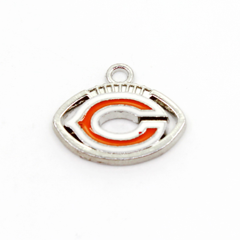 2018 New Arrival 20pcs/lot Chicago Bears Football Team Dangle Hanging Charms DIY Bracelet Necklace Pendants Jewelry ...