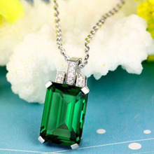 Luxury Created Emerald Pendant Alloy copper Pendant Fashion Jewelry Without Chain
