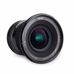 Meike 12mm f/2.8 Ultra Wide Angle Fixed Lens with Removeable Hood for Fujifilm X-Mount Dslr Camera X-Pro1 X-Pro2 X-E1 X-M1 X-A1