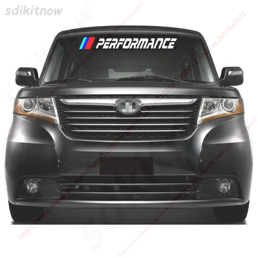 80cm Car Front Rear Windshield Performance Sticker Decal Styling For <font><b>BMW</b></font> For <font><b>BMW</b></font> M3 M5 X1 X3 X5 X6 E36 E39 E46 <font><b>E30</b></font> E60 E90 E92 image