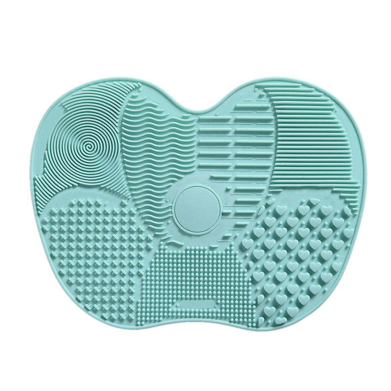 Silicone Makeup Brush Cleaning Mat Washing Tools Hand Tool Large Pad Sucker Scrubber Board Washing Cosmetic Brush Cleaner Tool 1pcs brushegg cleaning makeup washing silicone glove scrubber board 1pcs toothbrush powder brush cosmetic clean tools set