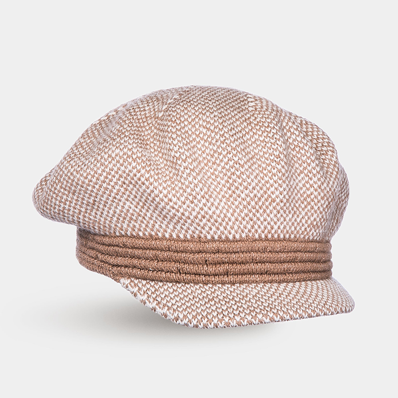 [Available from 10.11]Hat Newsboy hat Canoe 3450752 sewing thread tartan newsboy cap with embroidery