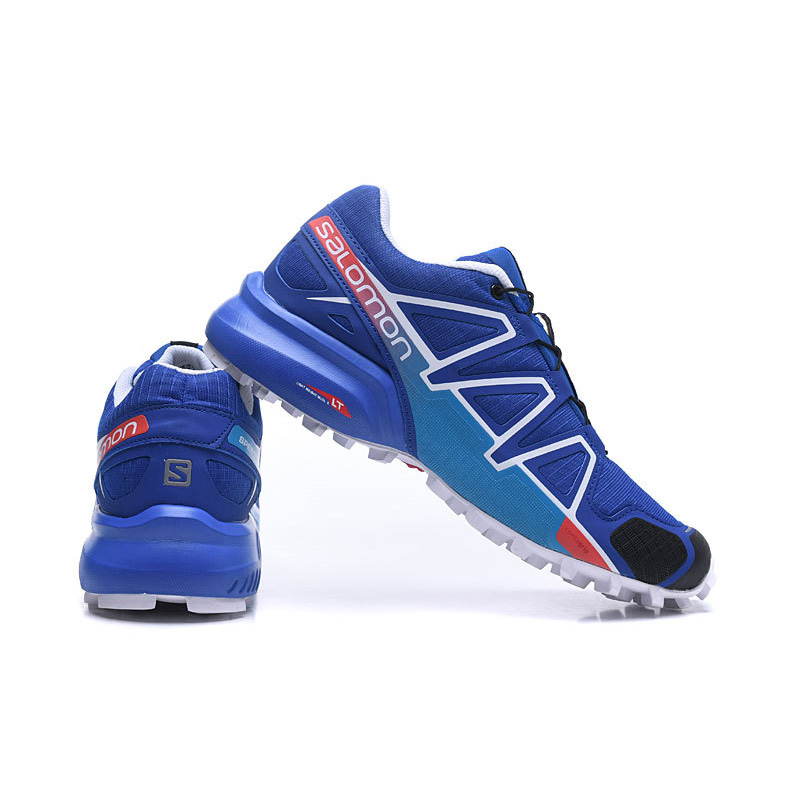 Salomon Speed Cross 4 CS Mens Running Shoes Cross Country Sport Sneakers Hot Sale Blue Athletic Outdoor Salomon Shoes EUR 40-46