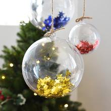 10 par 4 5 6 cm przezroczyste z tworzywa sztucznego świąteczna bombka dekoracyjna jasne cacko bombka na prezent pudełeczko prezentowe dekoracji tanie tanio 20pcs DK822 4 5 6cm 4cm 25g 5cm 35g 6cm 60g Christmas Tress Hanging Decorations Ball