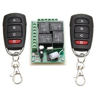 KROAK 433Mhz Universal Wireless Remote Control Switch DC 12V 4CH Channel Relay 2 Transmitter Receiver
