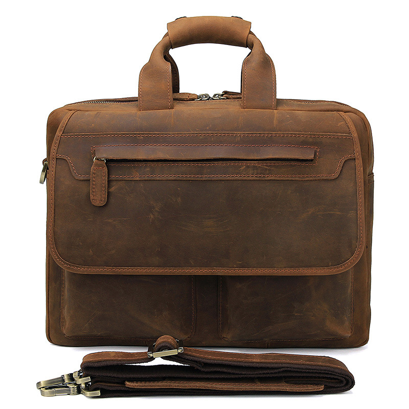 Mens Laptop Vintage Travel  Briefcase Cow Leather Business Travel 15 Large Capacity Weekend Crossbody Shoulder Handbags Bags Mens Laptop Vintage Travel  Briefcase Cow Leather Business Travel 15 Large Capacity Weekend Crossbody Shoulder Handbags Bags