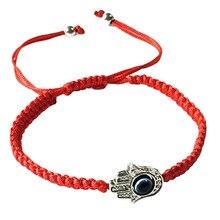 Handmade Braided Rope Bracelets Red Thread Evil Blue Eye Charm Bracelets Bring You Lucky Peaceful Bracelets Adjustable Length