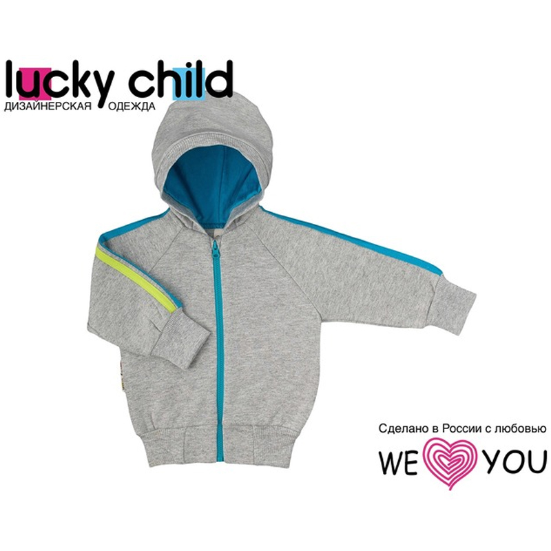 Child's Sweatshirt Lucky Child striped panel sweatshirt