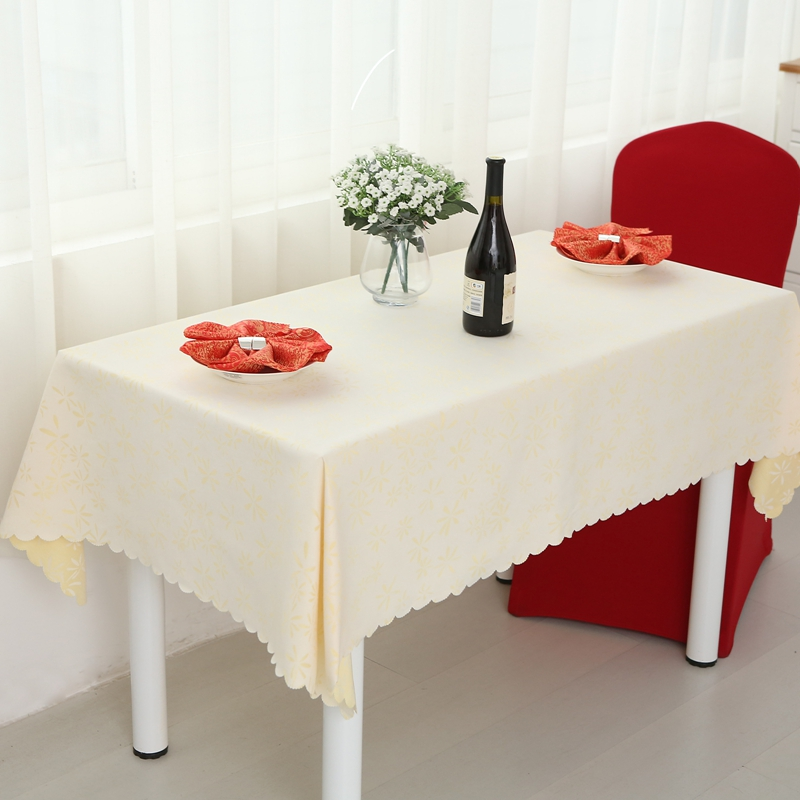 Cotton Small Hook Flower Tablecloth Rectangle Square Wedding Dining Polyester TableCloth For Sale