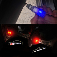Car LED Ghost Shadow Projector Laser Courtesy Personality Quattro Logo Light For Audi Sline A8 A7 A5 A6 A4 A3 A1 R8 TT Q7 Q5 Q3