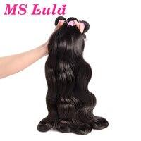 Ms Lula Peruvian Body Wave Human Hair Weave Bundles 3PCS/Lot 100% Remy Hair Weft Bundles Deals Natural Color Hair Extensions