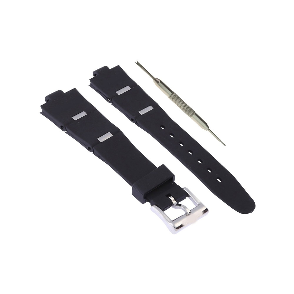 bdc6ee9346f MDNEN 26mm Black Rubber Watch Band Replacement Strap Fits For ...