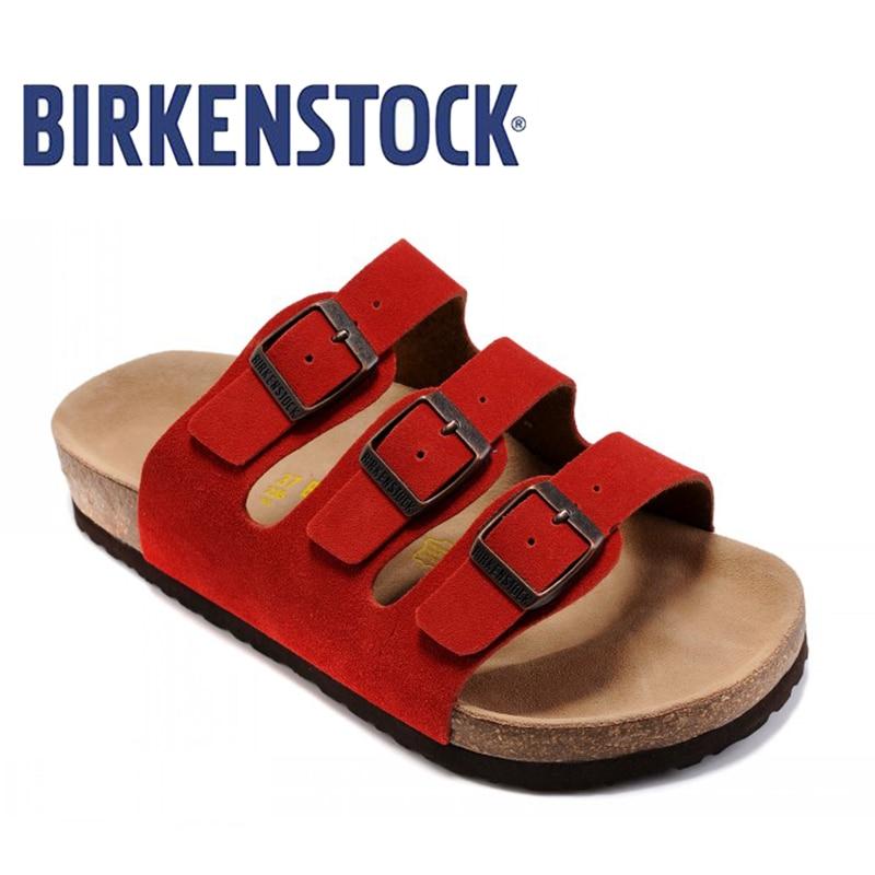BIRKENSTOCK 2018 มาใหม่ฟลอริด้า BF DD - รองเท้าผู้ชาย
