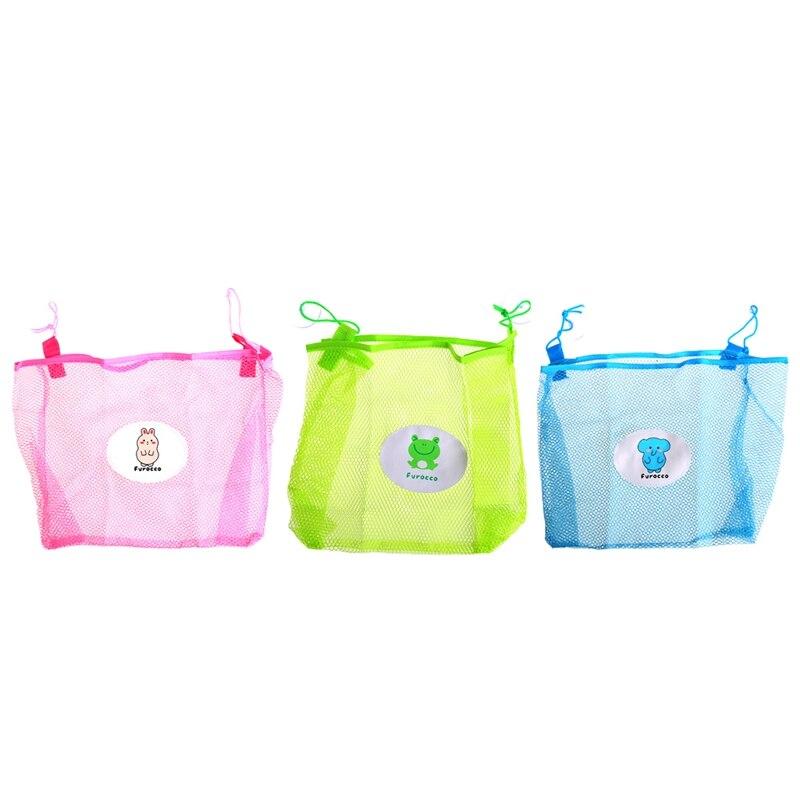 2017 Cute Child Bath Toy Storage Bag Organiser Net Suction Baskets Kids Bathroom Mesh Bag APR12_30