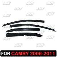 Window deflectors for Toyota Camry V40 2006 2011 1 set 4 pcs car styling wind decoration guard vent visor rain guards cover