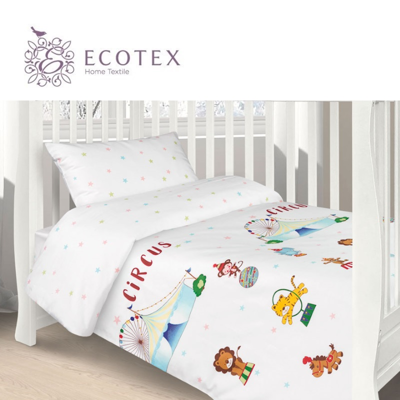 Фото - Baby bedding Circus,100% Cotton. Beautiful, Bedding Set from Russia, excellent quality. Produced by the company Ecotex flower print bedding set