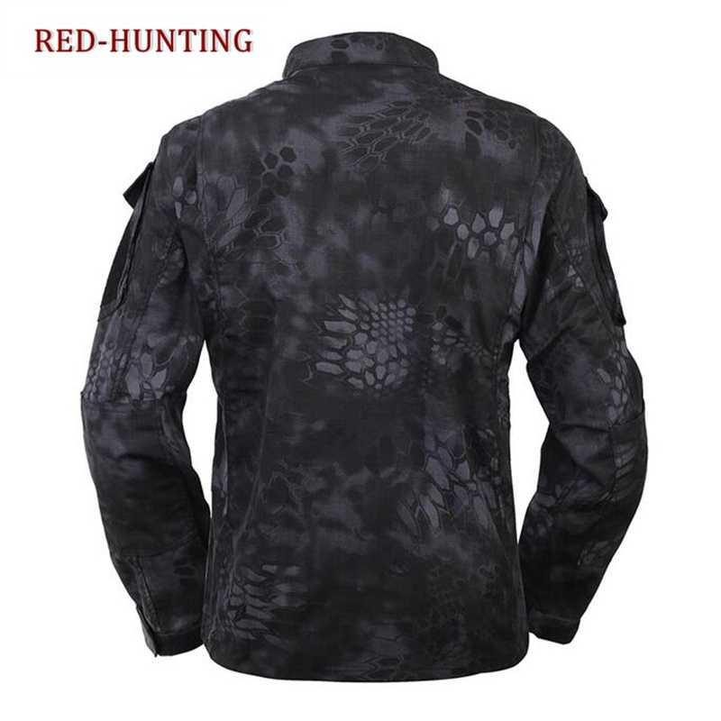 Military Sommer Jagd BDU Feld Uniform Tarnung Gesetzt Shirt Hosen männer Taktische Jagd Uniform Kryptek Typhon Camo FG AU
