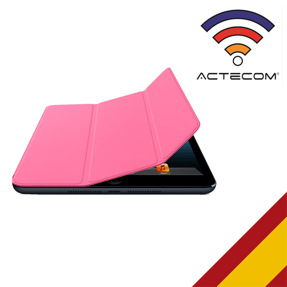ACTECOM SMART COVER PARA IPAD AIR / AIR 2 ROSA BLOQUEO AUTOMATICO MAGNETICO PROTECTOR COMPATIBLE PARA IPAD AIR / AIR 2