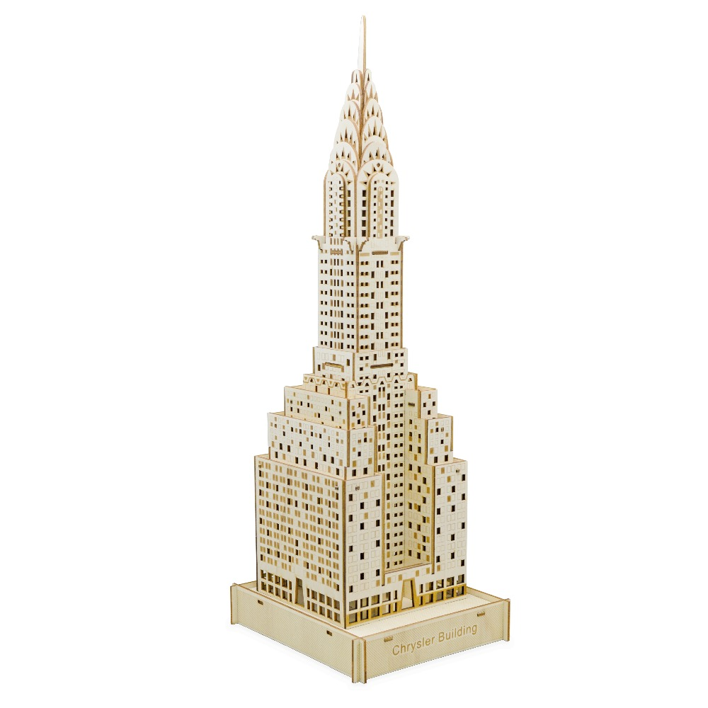Skyscrapers model Kids toys 3D Puzzle wooden toys Wooden Puzzle Educational toys for Children