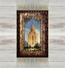 Anders De Taj Mahal Bloemen Frame 3d Turkse Islamitische Moslim Gebed Tapijten Tasseled Anti Slip Moderne Gebed Mat Ramadan Eid geschenken