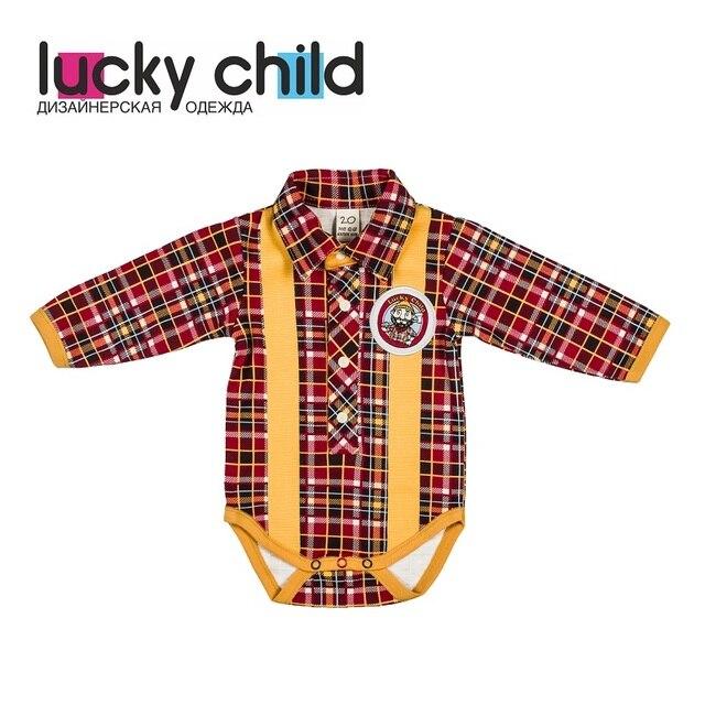 Боди Lucky Child без начёса для мальчиков, арт. 27-5 (Мужички) [сделано в России, доставка от 2-х дней]