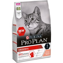 Сухой корм Purina Pro Plan для взрослых кошек от 1 года, с лососем, 4 упаковки по 3 кг