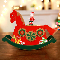 2018 Christmas Octave Wooden Ferris wheel and Carousel Musical Instrument Decoration Christmas Gifts Toys For Children