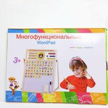 Childrens educational toys write in russian  wooden gifts for Girls Boys learning shipping from russia
