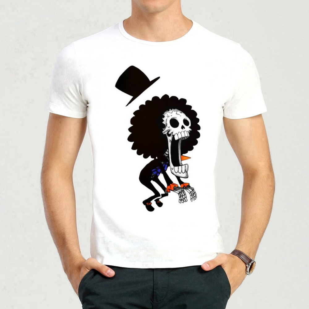 Skull Brook T-shirt Short Sleeve White One Piece Brook Skull t shirt Top Tees For teenagers
