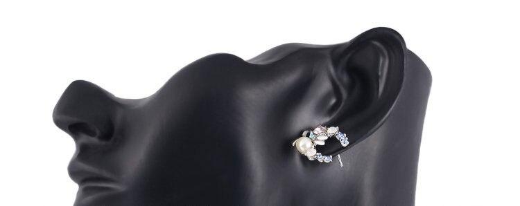 Подлинная Silver Цвет сверкающими лук Серьги-гвоздики с прозрачными для Для женщин совместимый с ювелирные изделия подарок
