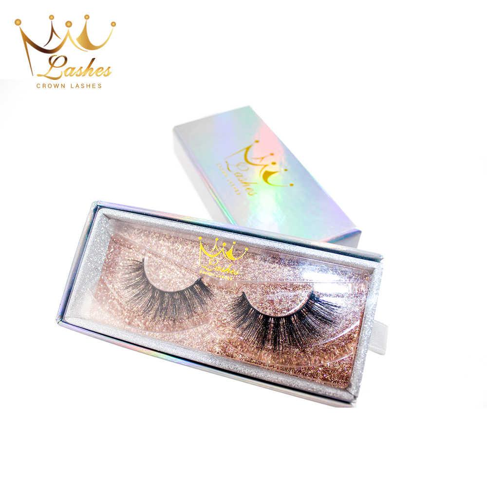 f9c7f8f9431 ... CrownLashes 6d 3d mink false eyelashes natural custom box packages  private label individual eyelashes fake eyelashes ...