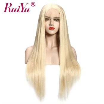 Blonde 613 Lace Front Wig 13*4 RUIYU Lace Front Human Hair Wigs For Black Women Straight Brazilian Blonde Wig Remy hair
