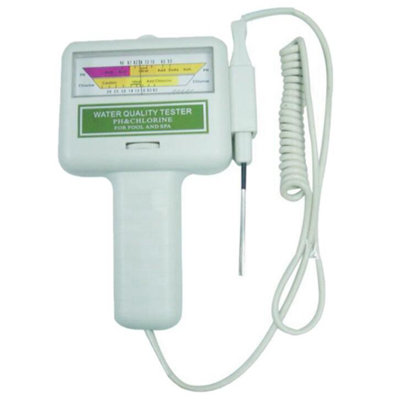 Swimming Pool Spa PH CL2 Chlorine Level Meter Water Quality Tester Monitor swimming pool ph cl2 spa water tester 1 aa