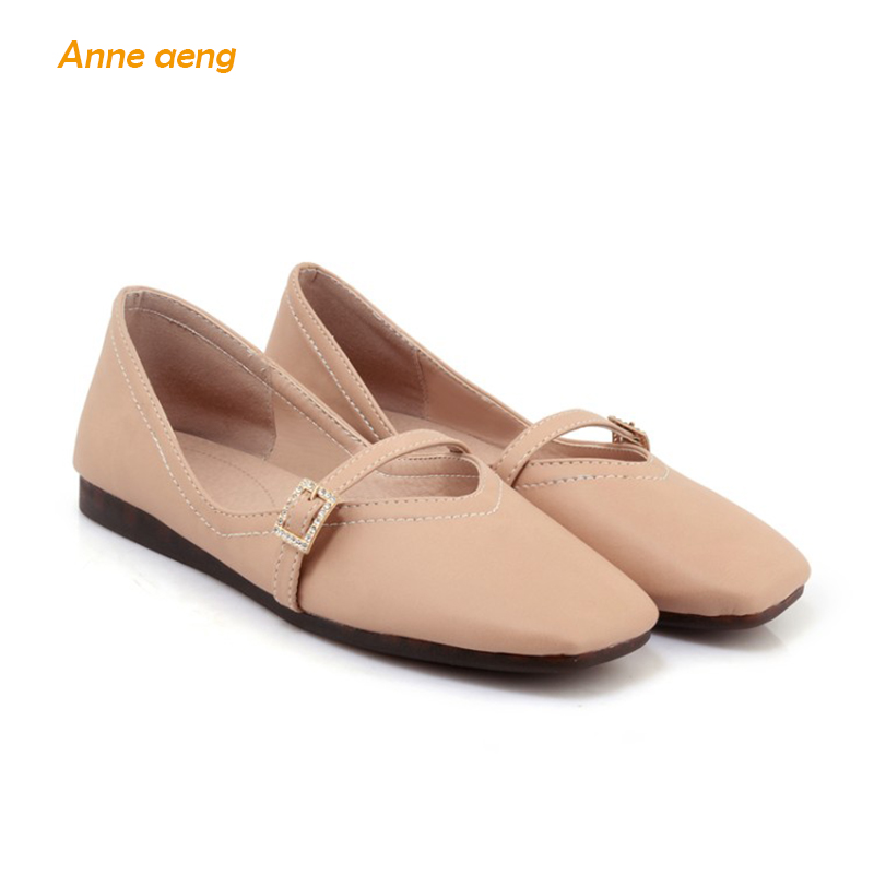 2018 New Spring Women Shoes Supper soft women Flats Comfortable Slip-on Black Pink White Women Shoes Big Size 42 43 44 aiyuqi big size 41 42 43 women s comfortable shoes 2018 new spring leather shoes dress professional work mother shoes women page 4