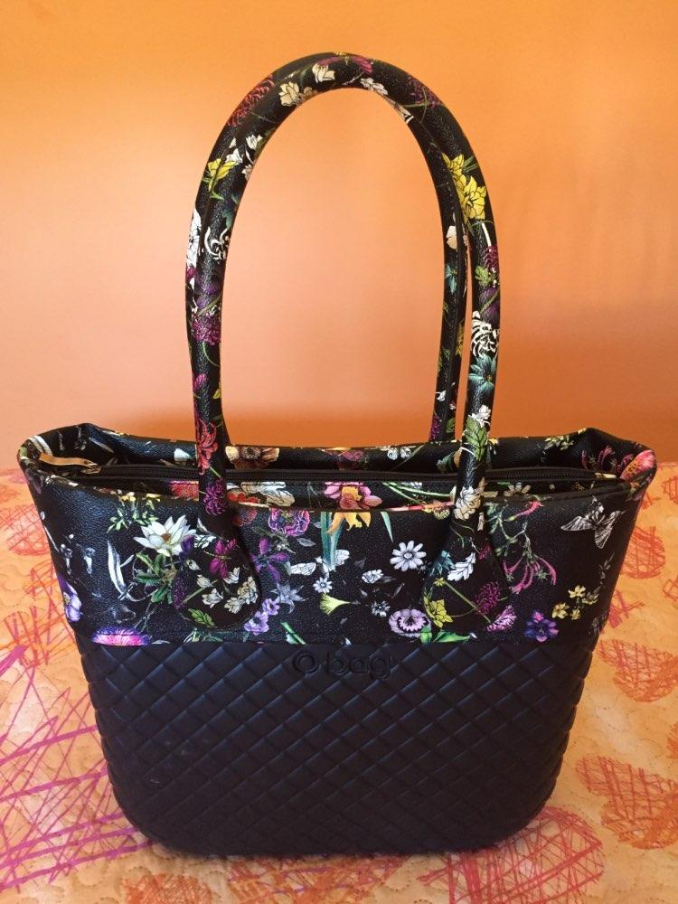TANQU New 1 Pair Short Long Floral Print Soft Faux PU Leather Handle for Obag Classic Mini O Bag Women Shoulder Handbag photo review