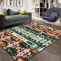 Anderes Grün Orange Aztec Retro Ethnische Geometrische 3d Print Non Slip Mikrofaser Wohnzimmer Dekorative Moderne Waschbar Bereich Teppich Matte Teppich    -