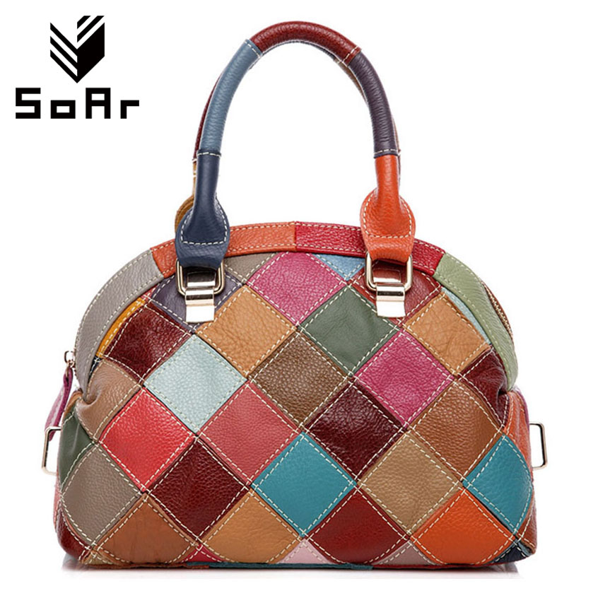SoAr Tote Shell bag luxury handbags women bags designer genuine leather bag high quality women shoulder messenger bags brands 4 genuine leather patckwork bags women casual messenger bag women s lady colorful zipper shoulder designer handbags high quality