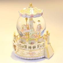 Karuzela Pozytywka Home Decoration Accessories Carrusel Snow Globe De Musica Boite A Musique Carousel Caja Musical Music Box