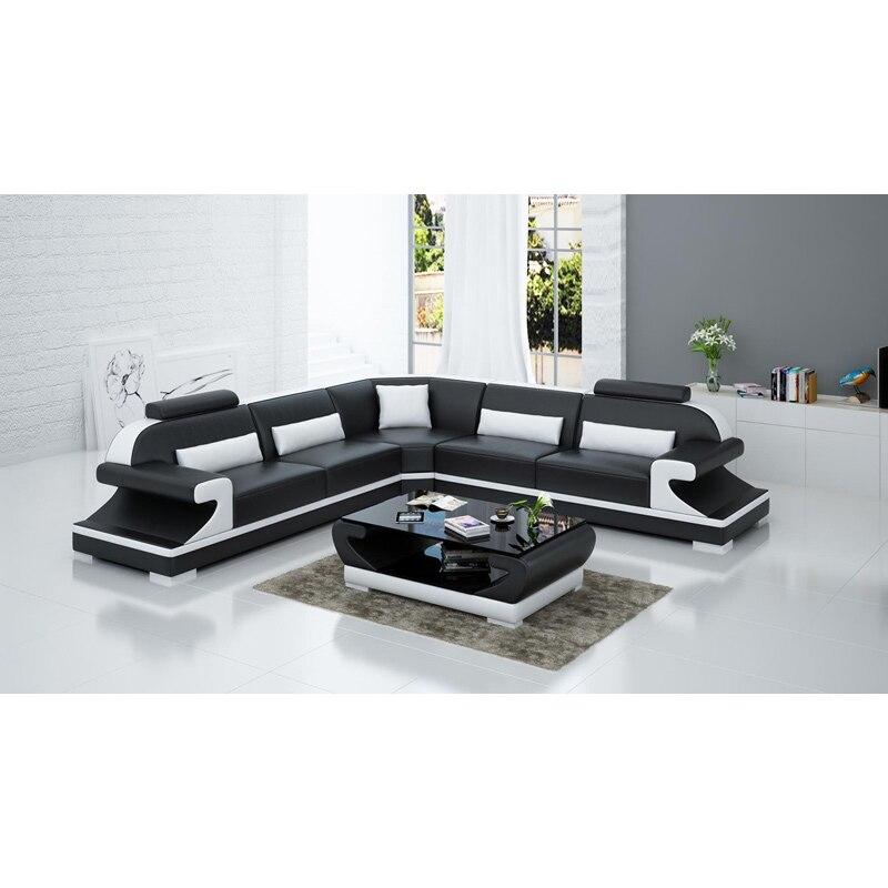 Living Room Real Leather Sofa Set