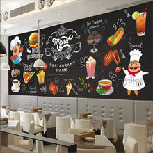 Western restaurant fast food restaurant burger shop background wall custom large indoor wallpaper mural 3D photo wall(China)