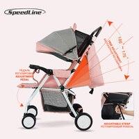 Speedline 2018 Baby Strollers Ultra Lightweight Folding Sit Or Lie Umbrella Baby Trolley Wagen Car Poussette Bebek Arabasi