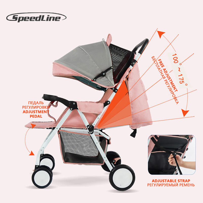 Speedline 2018 Baby Strollers Ultra-Lightweight Folding Sit Or Lie Umbrella Baby Trolley Wagen Car Poussette Bebek Arabasi