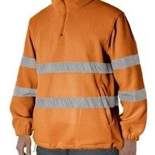 Флис Рабочая Высокая VISIBILITA оранжевый