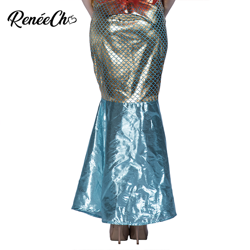 Mermaid Sequin Green Under Sea Siren Fancy Dress Halloween Deluxe Adult Costume