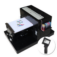 Multicolor A3 Flatbed Printer DTG tshirt Printing & Protable Touch Screen Handheld Printer Inkjet Label Printing Machine