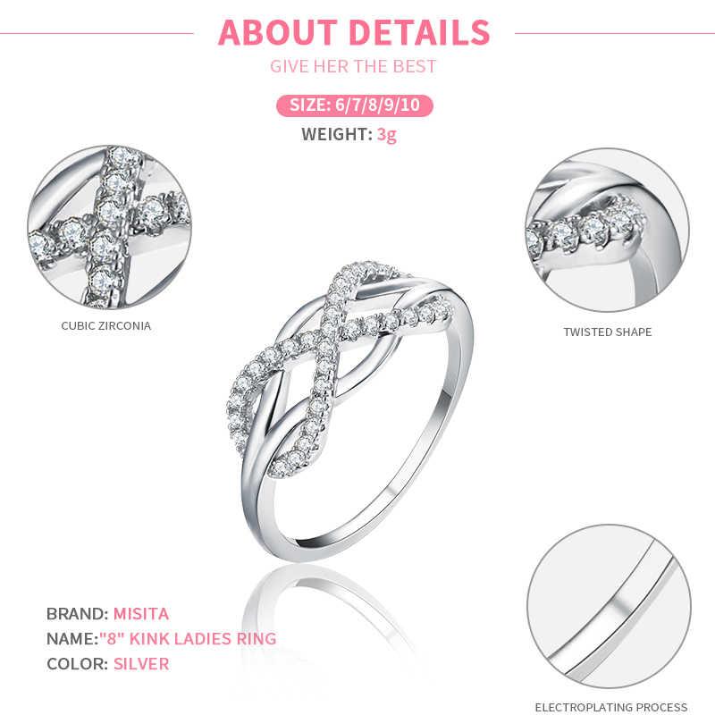 MISSITA 2019 ใหม่แฟชั่นคลาสสิก Infinity แหวนสำหรับงานแต่งงานแฟชั่นเครื่องประดับของขวัญครบรอบ anillos mujer