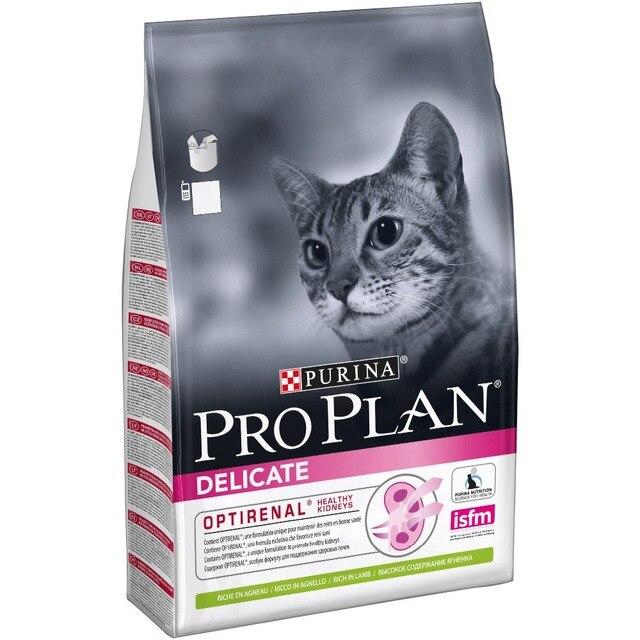 Pro Plan Delicate для кошек с чувствительным пищеварением, ягненок, 3 кг.