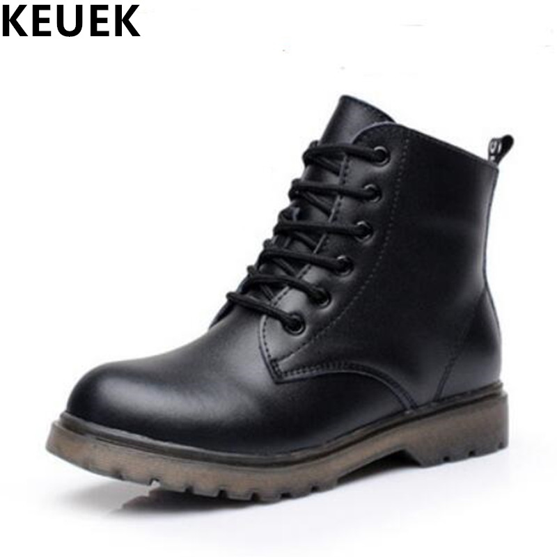 Genuine leather Ankle boots Autumn Children Martin boots Fashion Boys Girls Winter Snow boots Waterproof warm Kids 041 kids freezing cold winter snow boots casual boys martin boots girls warm sneakers shoes fashion real leather children snow boots